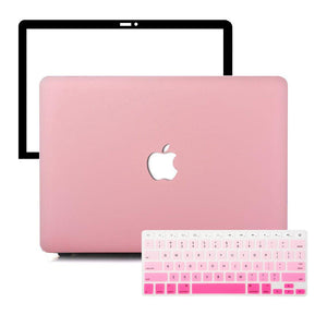 MacBook Case Protective Screen Package - Matte Love Pink - Slick Case