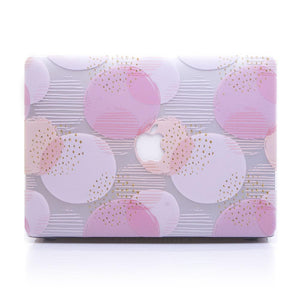 Macbook Case [A1370/A1465] MacBook Air 11' MacBook Case - Pink Coral Pokka Dots