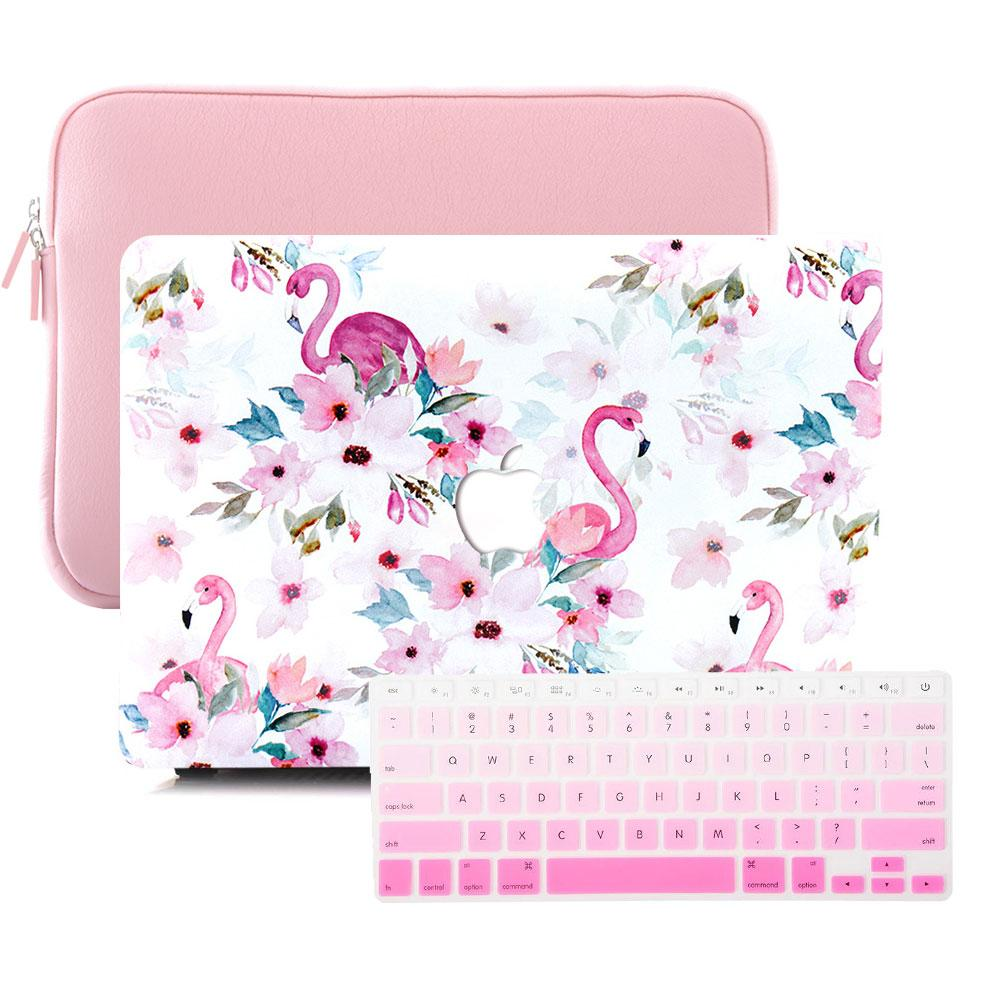 Best Macbook Sleeve Package - MacBook Case Sleeve Package - Pink Tropical Flamingo