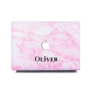 Custom MacBook Case -- Pink Marble - Slick Case