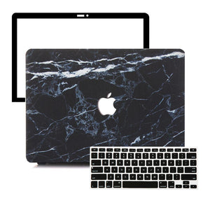 MacBook Case Protective Screen Package - Black Alabastrine - Slick Case