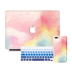 Macbook Discount Package [A1370/A1465] MacBook Air 11' / iPhone 6/6s / Gradient Keypad - Blue MacBook & iPhone Case Package - Rainbow Mist