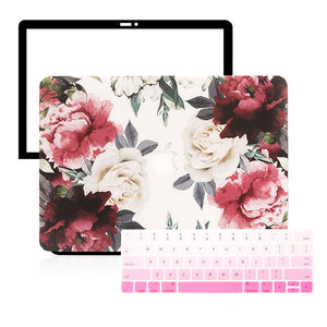 MacBook Case Protective Screen Package - Rosa Eden