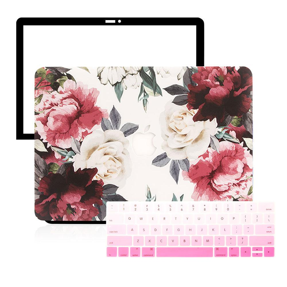 Macbook Protective Package [A1534] MacBook 12' / Gradient Keypad - Pink MacBook Case Protective Screen Package - Rosa Eden