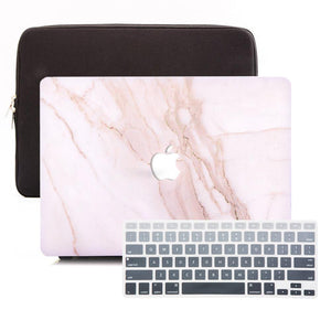 MacBook Case Sleeve Package - Taupe Marble - Slick Case