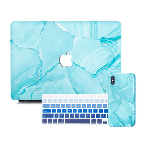 Macbook Discount Package [A1370/A1465] MacBook Air 11' / iPhone 6/6s / Gradient Keypad - Blue MacBook & iPhone Case Package - Turquoise Marble