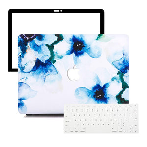 Macbook Protective Package [A1370/A1465] MacBook Air 11' / Multi-Color Macbook Keypads - Snowy White MacBook Case Protective Screen Package - Violaceae