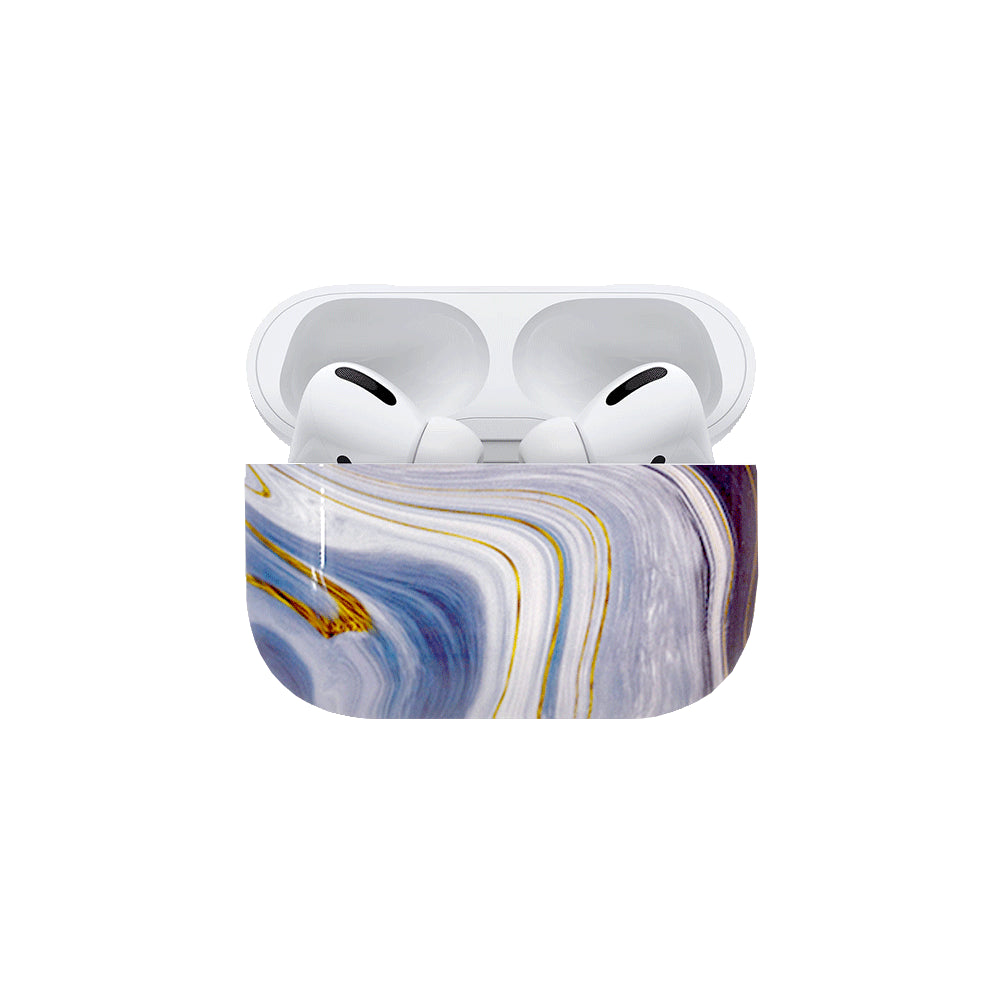 Best AirPods Case Protective Cover - AirPods Case Protective Cover - Blue Swirl AirPods Pro