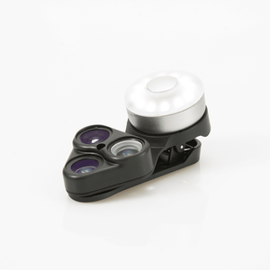 RevolCam – 3-in-1 Lens Clip with LED &Selfie Mirror