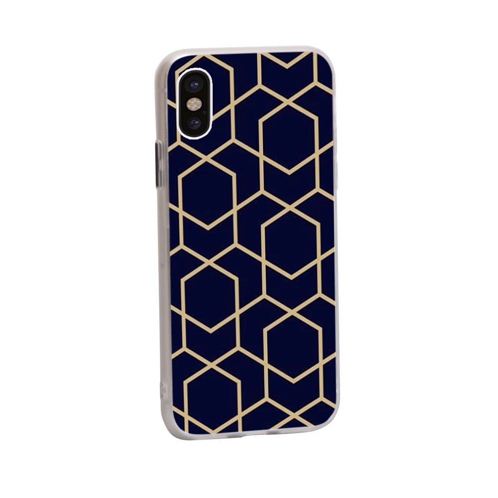 Best Macbook Discount Package - Macbook & iPhone Case Package - Gold Metro Geometric