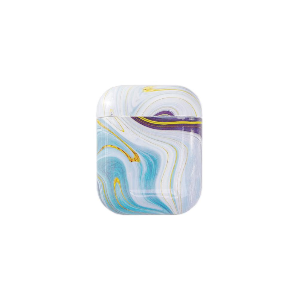Best AirPods Case Protective Cover - AirPods Case Protective Cover - Blue Swirl