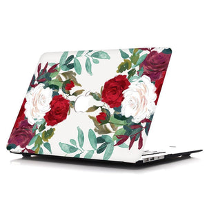 Macbook Sleeve Package [A1370/A1465] MacBook Air 11' / Multi-Color Macbook Keypads - Red / MacBook Sleeve - Spill-Proof Leather Zip Bag in Baby Pink MacBook Case Sleeve Package - Clustered Roses