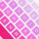 Block Letters Gradient Keypads - Purple Pink