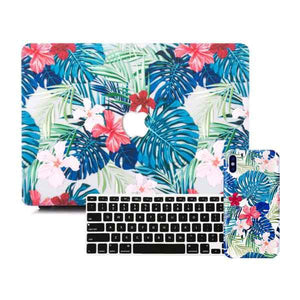 MacBook & iPhone Case Package - Floral Safari
