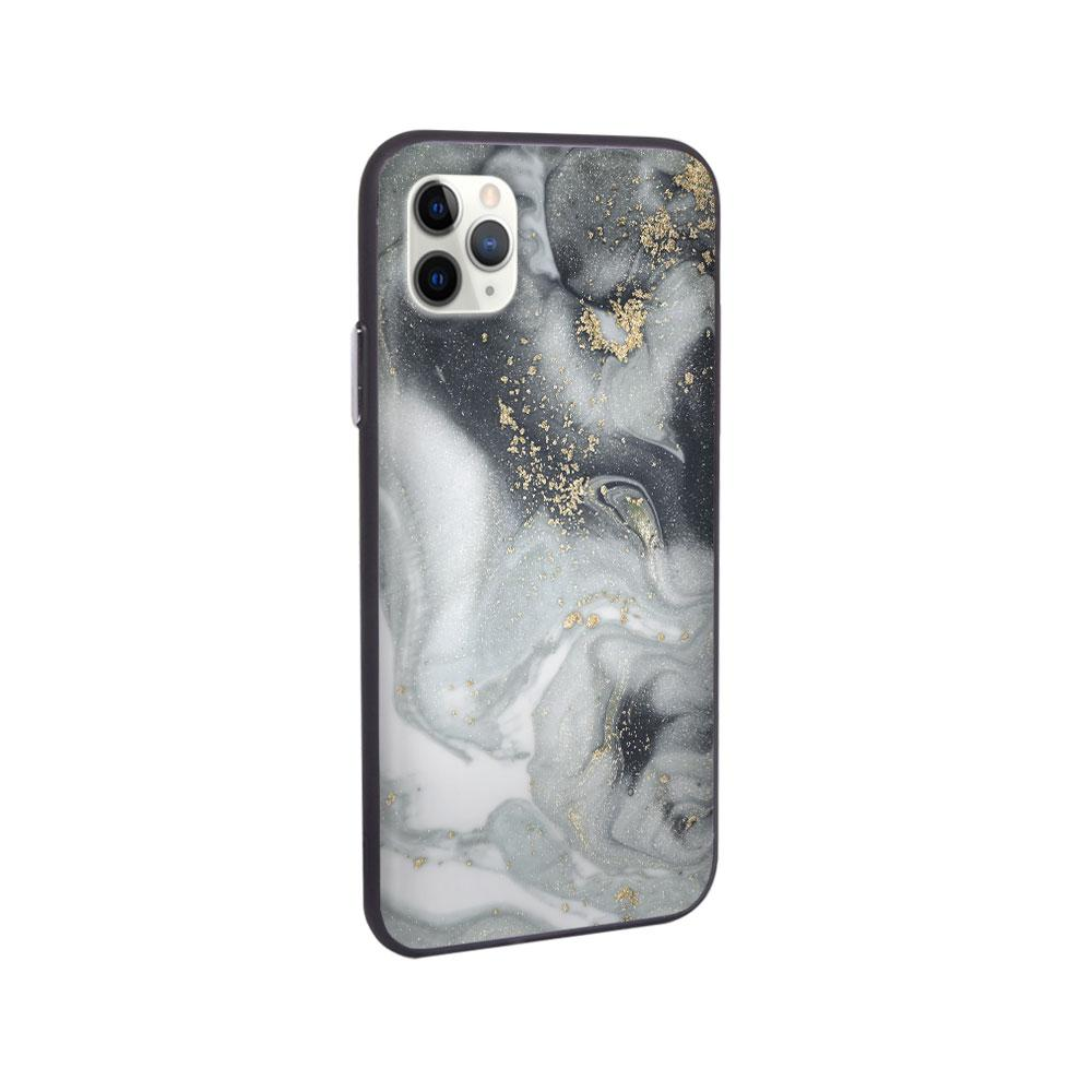 iPhone Case - Gray Glitter Marble - Slick Case