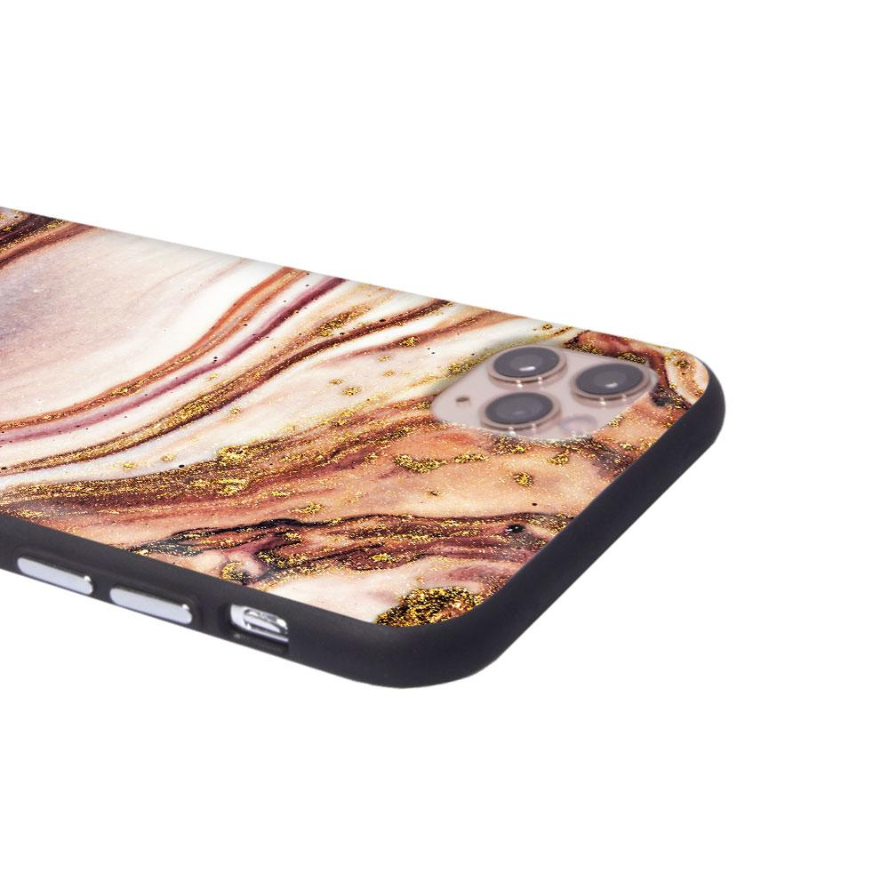 iPhone Case - Nude Glitter Marble - Slick Case