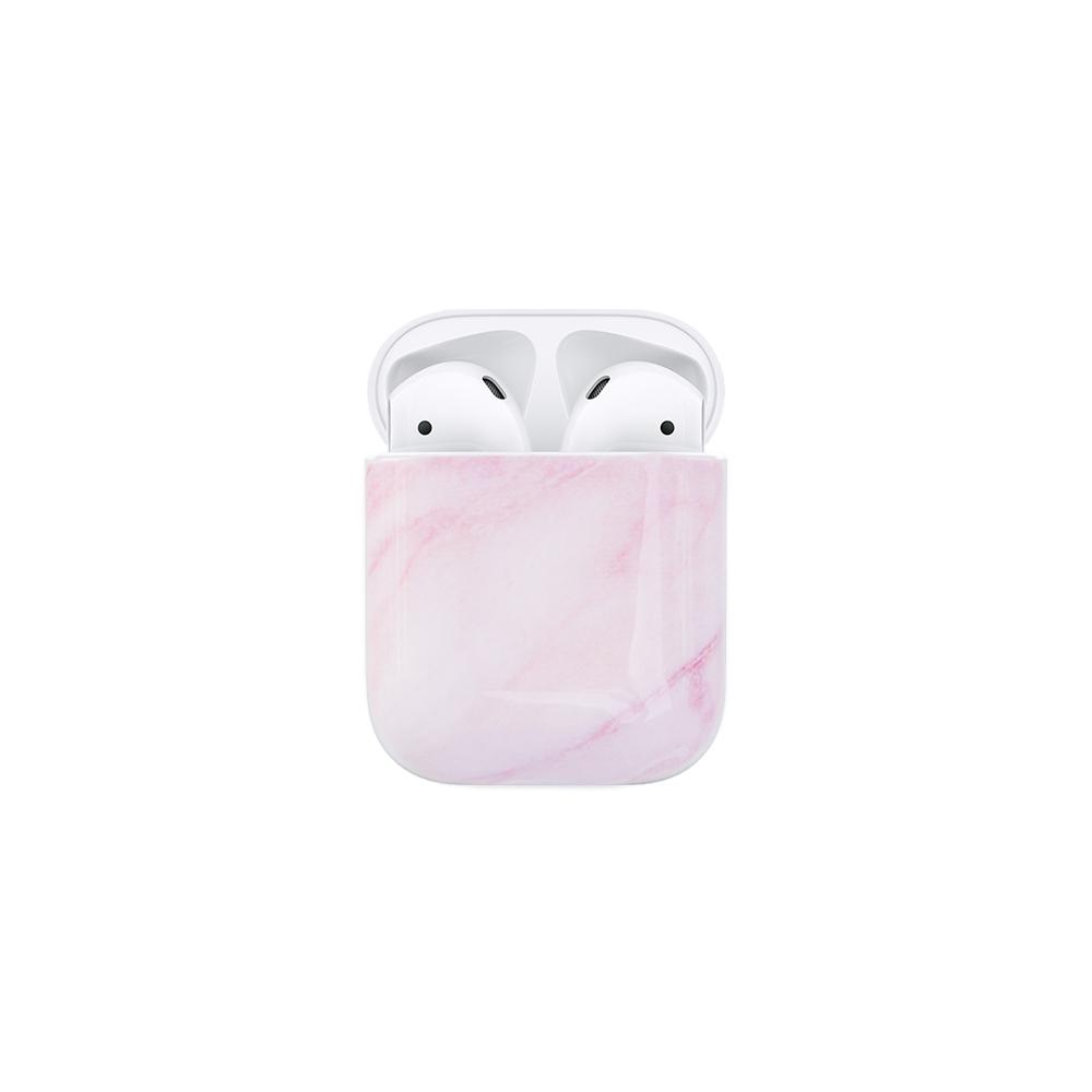 Best AirPods Case Protective Cover - AirPods Case Protective Cover - Pink Marble AirPods