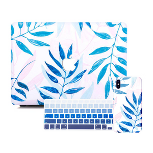 Macbook Discount Package [A1370/A1465] MacBook Air 11' / iPhone 6/6s / Gradient Keypad - Blue MacBook & iPhone Case Package - Palm Leaves