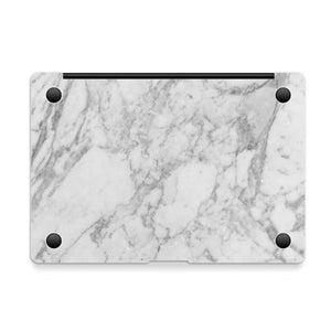 MacBook Decal - White Marble - Slick Case