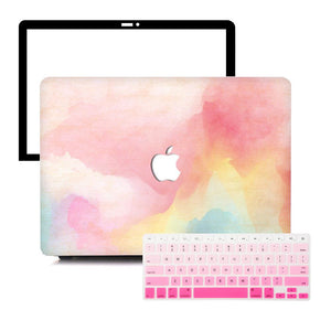 MacBook Case Protective Screen Package - Rainbow Mist - Slick Case