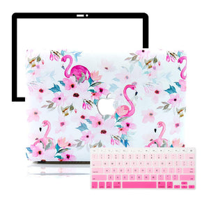 MacBook Case Protective Screen Package - Pink Tropical Flamingo - Slick Case