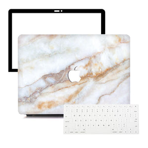 Macbook Protective Package [A1370/A1465] MacBook Air 11' / Multi-Color Macbook Keypads - Snowy White MacBook Case Protective Screen Package - Crystal Marble
