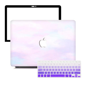 Macbook Protective Package [A1370/A1465] MacBook Air 11' / Gradient Keypad - Purple MacBook Case Protective Screen Package - Violet Mist