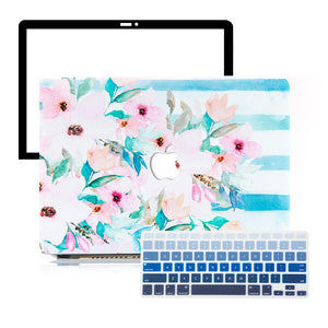 MacBook Case Protective Screen Package - Botanical Paradise - Slick Case
