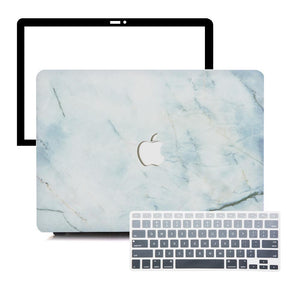 MacBook Case Protective Screen Package - Submarine Marble - Slick Case