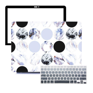 Macbook Protective Package [A1370/A1465] MacBook Air 11' / Gradient Keypad - Grey MacBook Case Protective Screen Package - Circular Marble