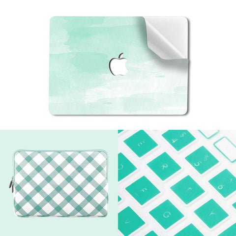 MacBook Sleeve Package - Mint Checkers