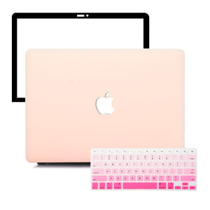 MacBook Case Protective Screen Package - Nude Pink - Slick Case