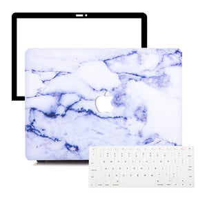 MacBook Case Protective Screen Package - Mauve Marble - Slick Case