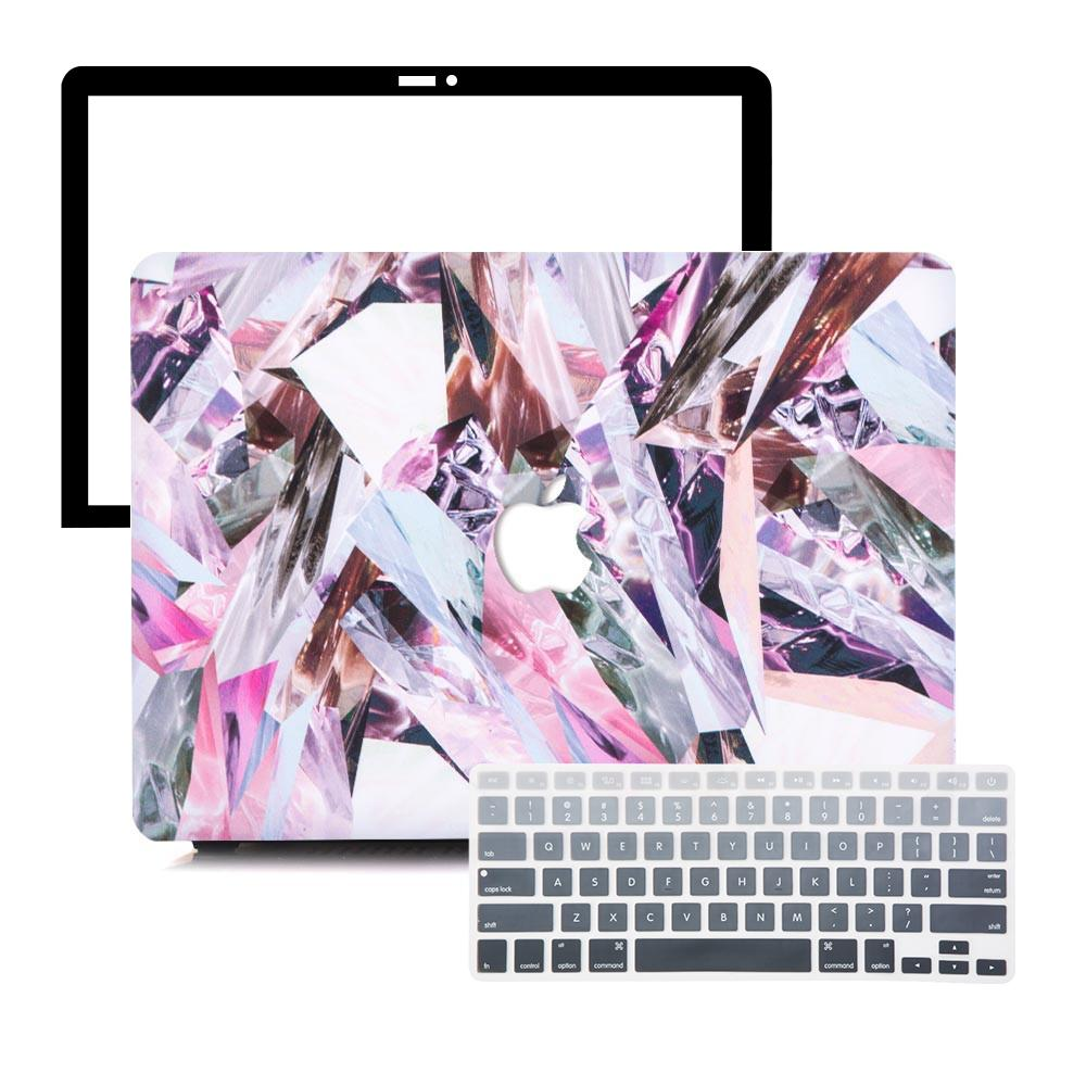 MacBook Case Protective Screen Package - Refraction Marble - Slick Case