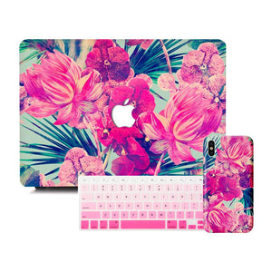 Macbook Discount Package [A1370/A1465] MacBook Air 11' / iPhone 6/6s / Gradient Keypad - Pink MacBook & iPhone Case Package - Florid Garden