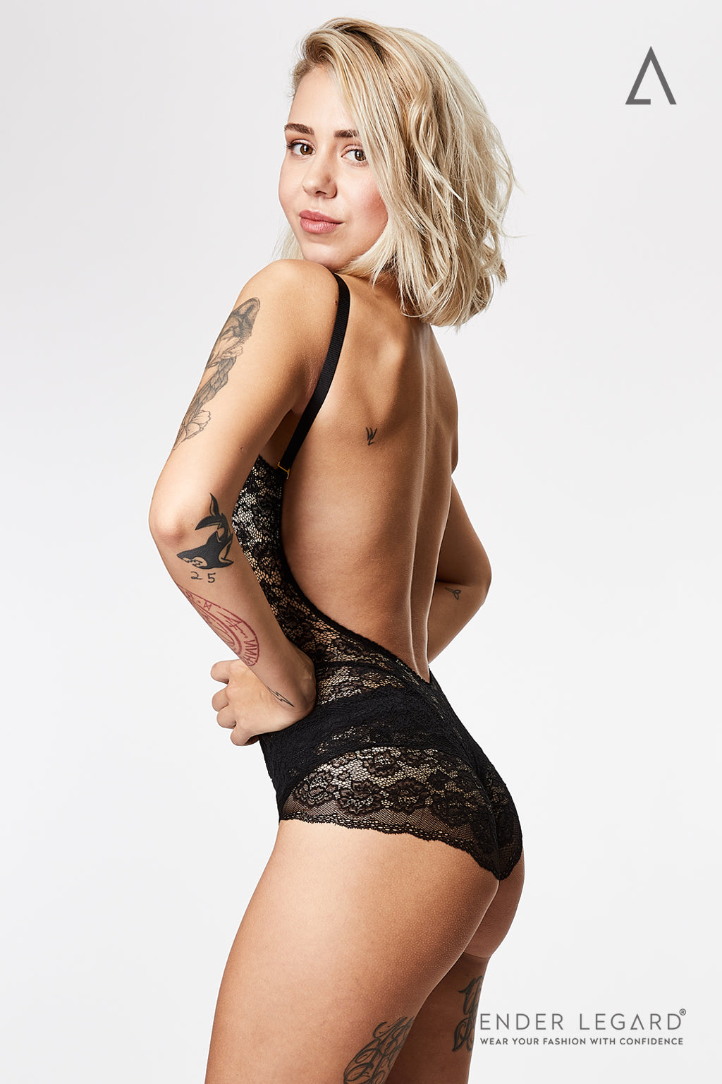 Lace panties briefs for black bodysuit shaper | ENDER LEGARD