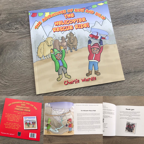 The Adventures of Biru and Dilip - The Helicopter Rescue Ride! (Personalised signed Copy)