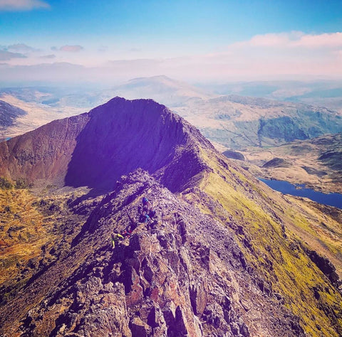 Crib Goch route (Snowdon) - hiking & scrambling - 20th April