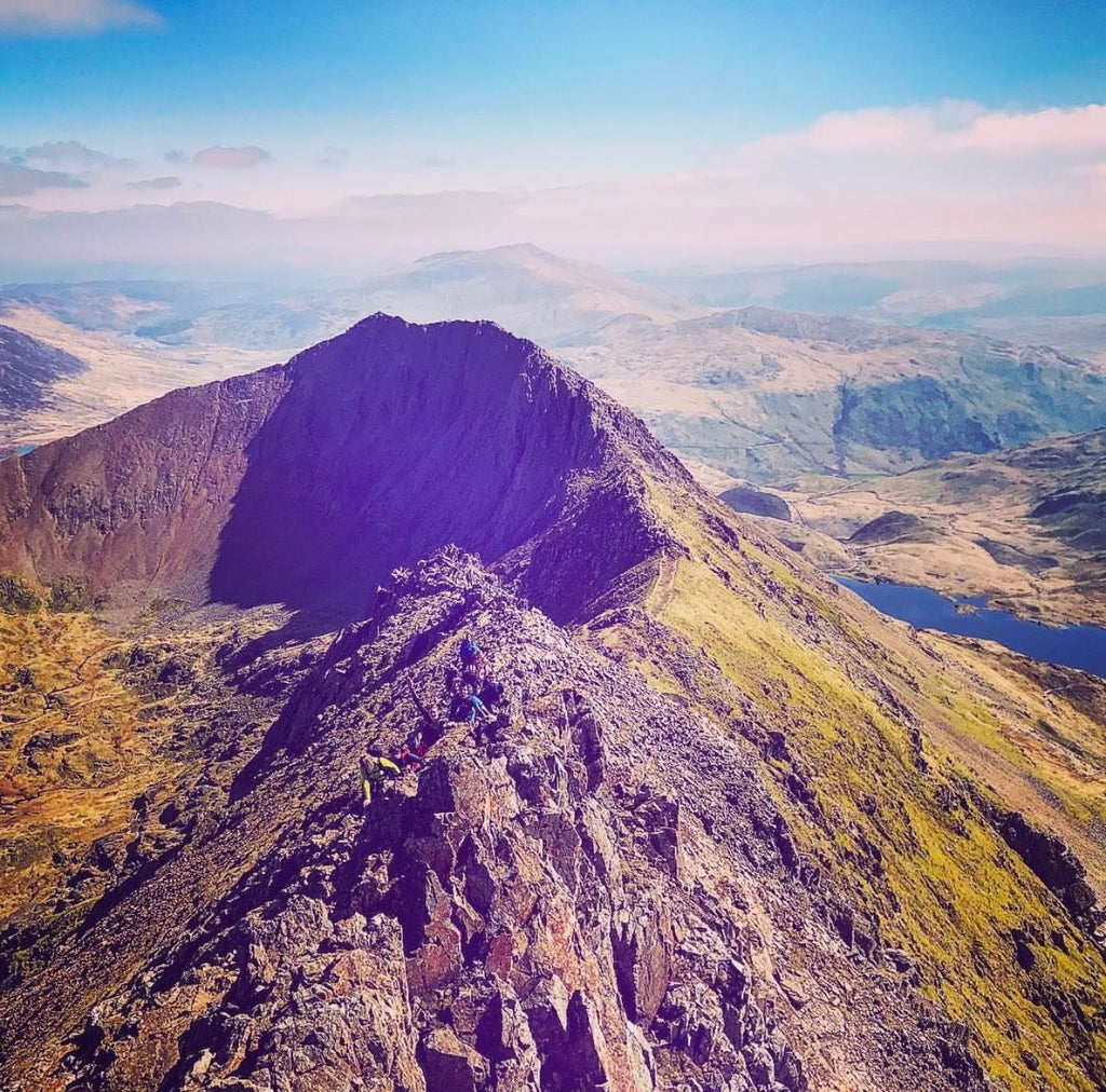 Crib Goch route (Snowdon) - hiking & scrambling - 20th July
