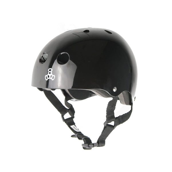 Triple 8 Brainsaver Helmet - Black (Gloss)