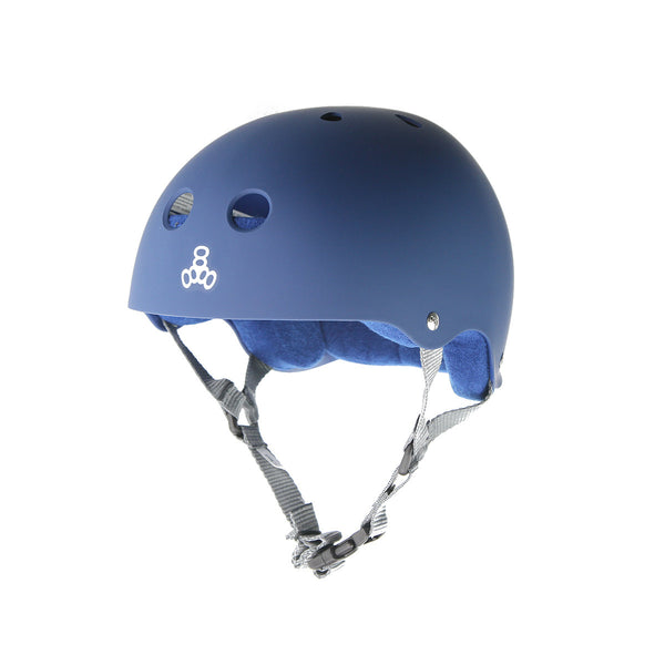 Triple 8 Brainsaver Helmet - Navy (Rubber)