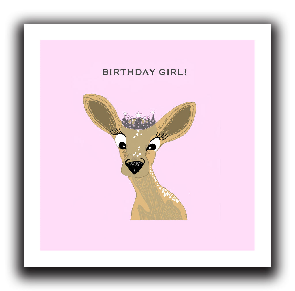Birthday girl bambi deer greeting card the grumble co bambi deer birthday girl greeting card bookmarktalkfo Image collections