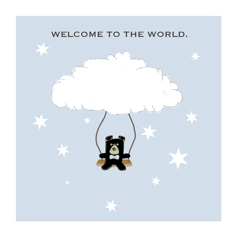 welcome to the world new baby boy greeting card the grumble co