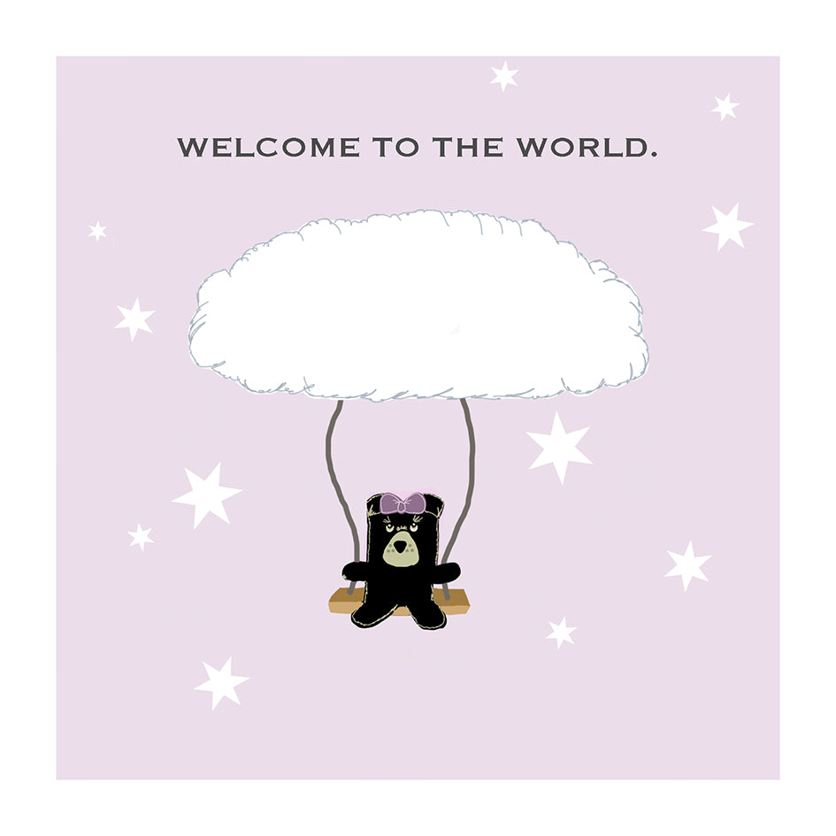 welcome to the world new baby girl greeting card the grumble co