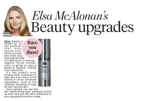 Daily Mail Elsa McAlonan PRAI Beauty Throat Concentrate