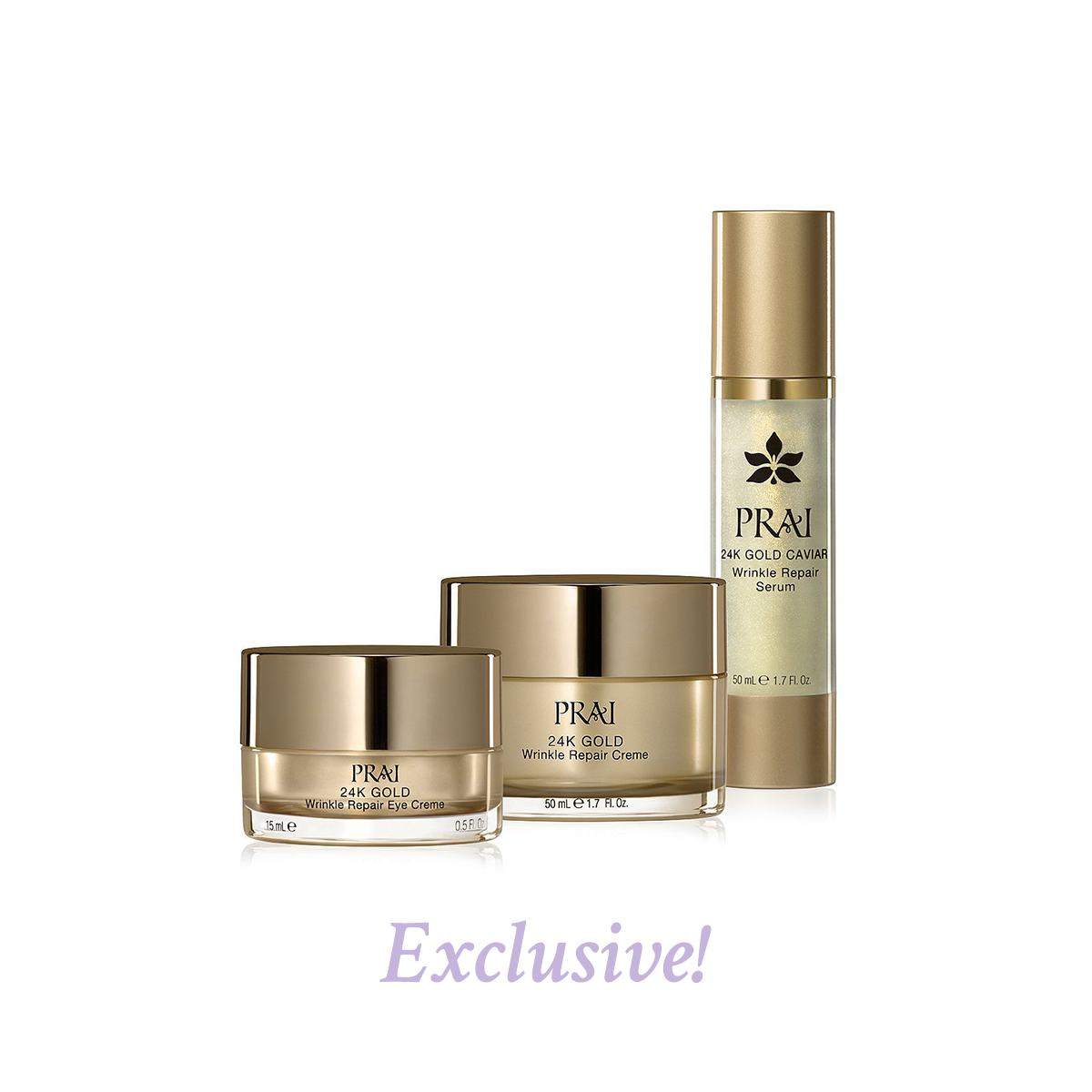PRAI Beauty  24K Gold Favorites Set