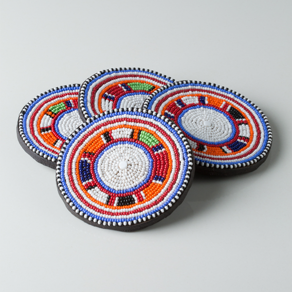 Maasai Beaded Coasters - Ikumba Design Studios - 2