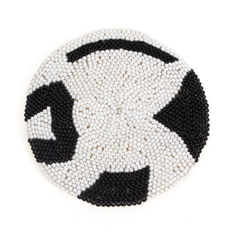 Black+White Beaded Coasters, Style I