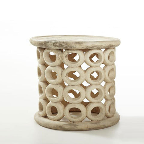 Cola Wood  Bamileke Bangle Stool-Side Table - Ikumba Design Studios - 1