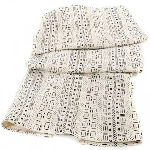 Authentic Queen's Cloth Mud Cloth Throw